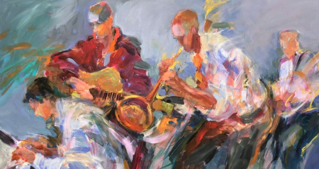Letting Loose Jazz After Midnight 36x48