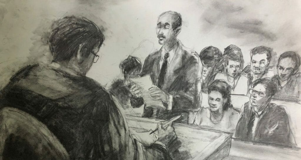 Courtroom Art scene