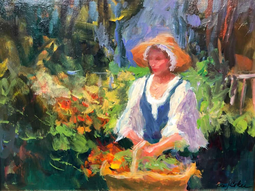 Colonial Girl in Garden Week