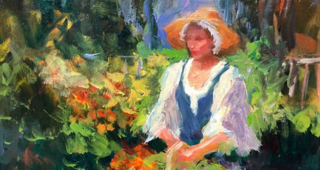 Colongia Girl in the Garden