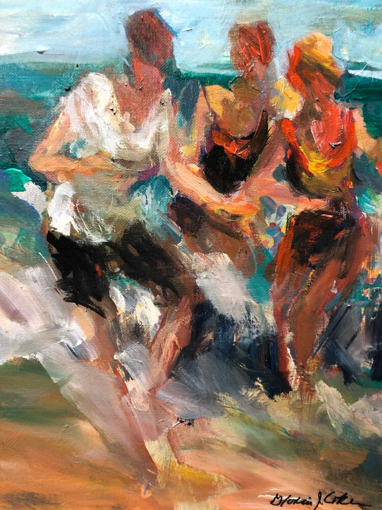 Three Ladies at the Shore